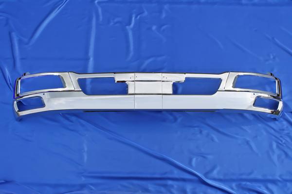 三菱ふそう ベストワン ファイター ワイド用 メッキ フロント バンパー & ヘッドライトカバー セット