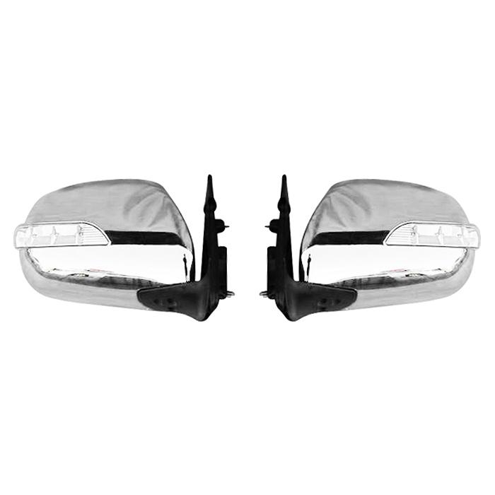 200系 ハイエース LEDウインカー付電動式メッキドアミラー