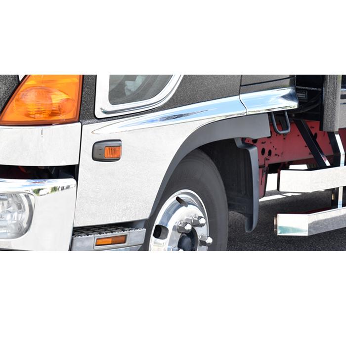 日野 レンジャープロ メッキ サイド ドア ガーニッシュ 貼り付けタイプ プロテクター ブリスター L/R