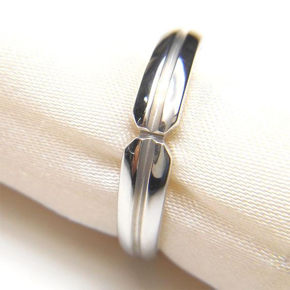 【14金】K14WG 指輪 ファッションリング【シルバー】【メンズ】【デザインリング】★15号【送料無料】