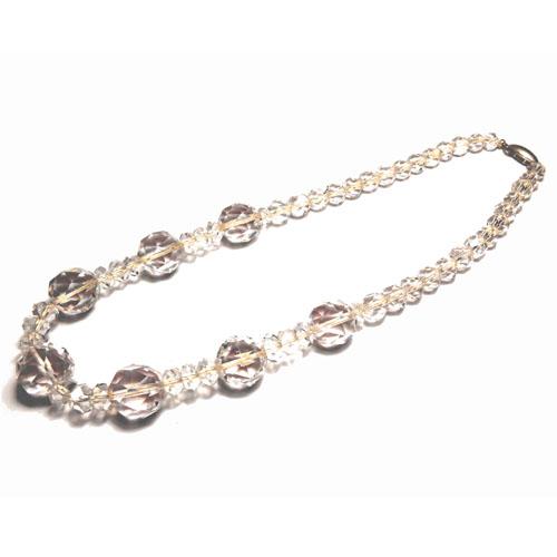 【誕生日プレゼント】水晶ネックレス パワーストーン 44.5cm【送料無料】