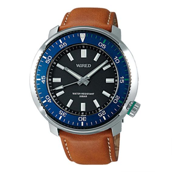 [限定モデル][ワイアード]WIRED 腕時計 WIRED SOLIDITY 逆回転防止ベゼル 限定モデル800本 20気圧防水 AGAJ701 メンズ