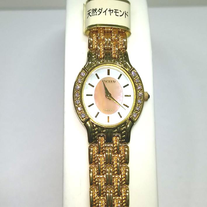 【廃盤】シチズン エクシード レディース クォーツ 腕時計 ダイヤ入り【CITIZEN EXCEED】