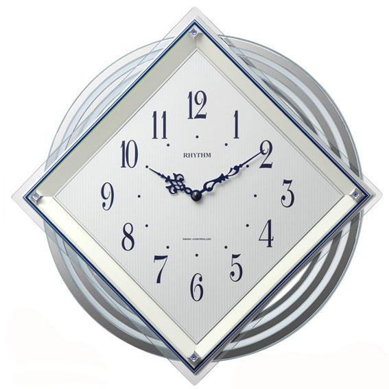 RHYTHM(リズム時計) 電波時計 ビュレッタ 白パール色 4MX405SR03