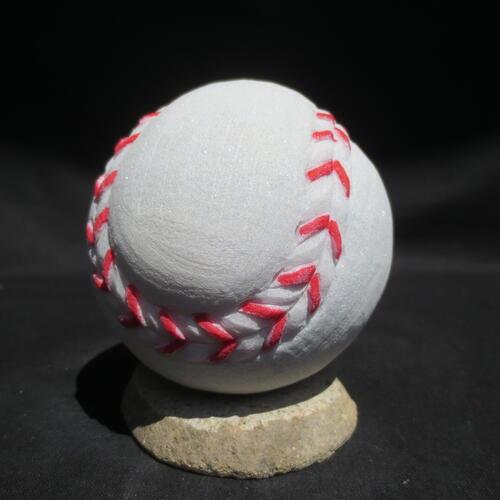 大理石 ボール 野球 硬球 置き物 置物