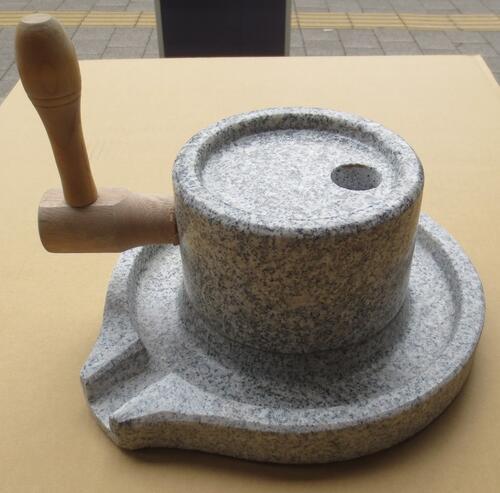 石臼 (いしうす) ひき臼 (ひきうす)御影石 16型 10.5kg 送料無料(沖縄県、離島は除く)