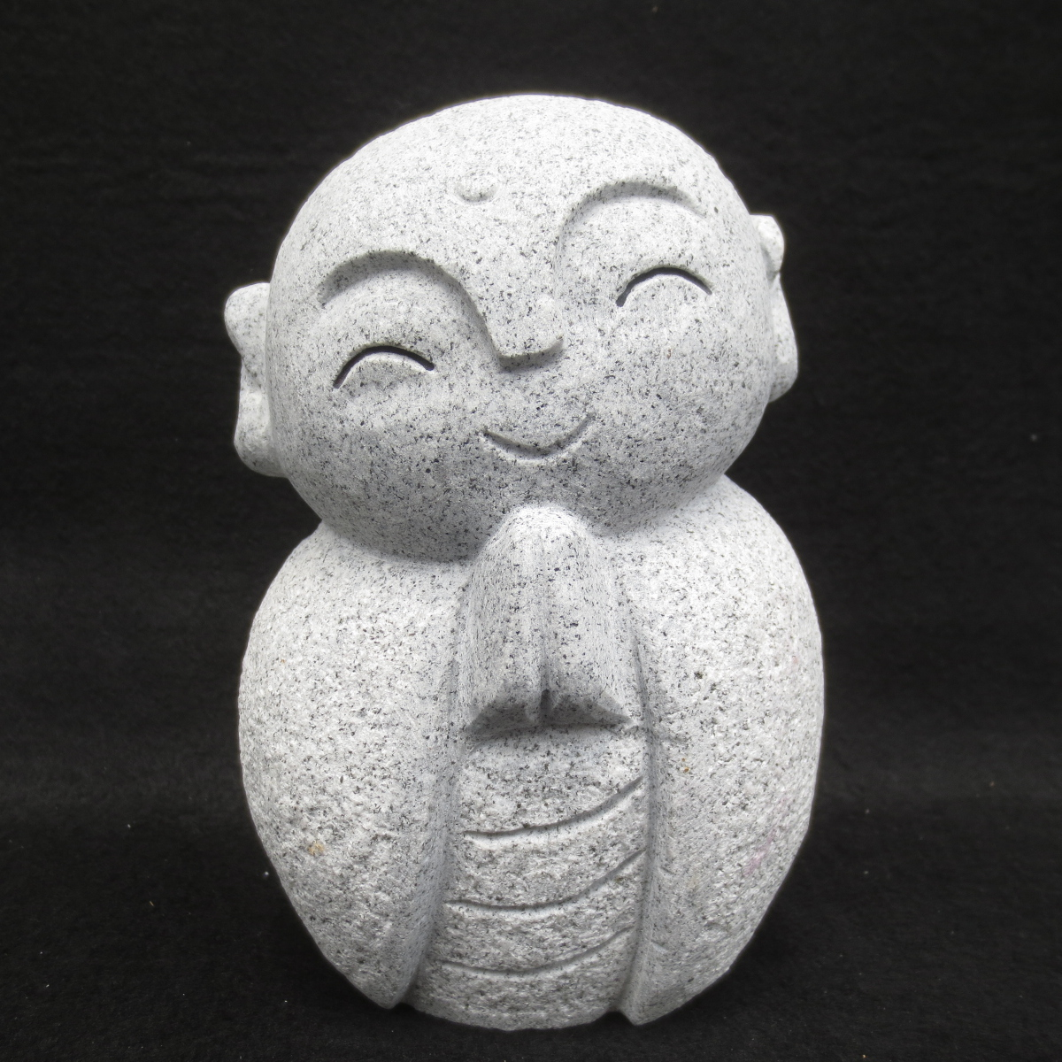 ちいさい かわいい おじぞうさん お地蔵さん 地蔵菩薩 仏像 癒しのかわいいい置物 彫刻品 癒しのお地蔵さん おじぞうさま GZ43-15 お得セット みかげ石 置物 奉呈 送料無料