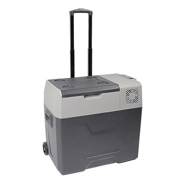 冷蔵庫 50L ポータブル 冷凍庫 バッテリー内臓 3電源 タイヤ付き 冷凍庫 保冷庫 コンセント シガー 電源 AC/DC 12V 24V AC100V -20℃