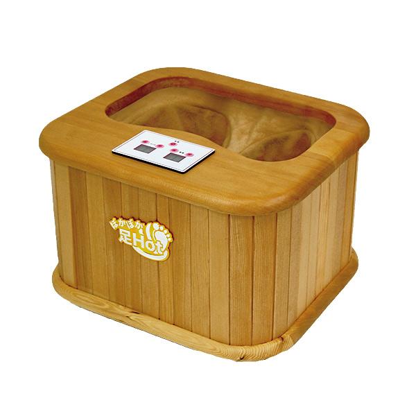 あったかヒーター タイマー機能付き ぽかぽか足湯 温度調整可能 足元エコ暖房 天然木使用 冷え対策 足湯たんぽ フットヒーター 遠赤外線 足湯