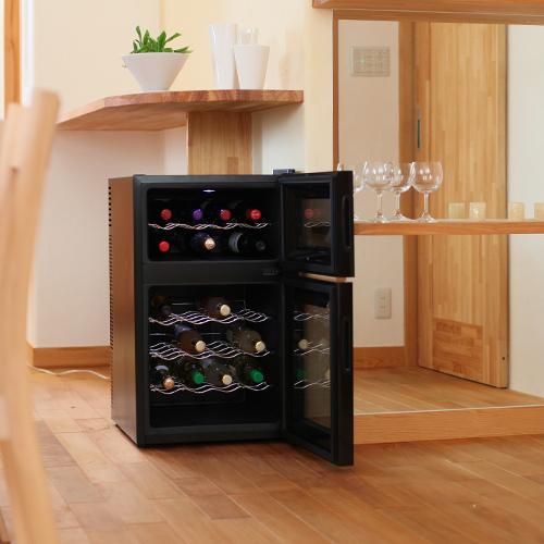 ワインセラー 24本収納 ペルチェ冷却方式 家庭用 ワインクーラー