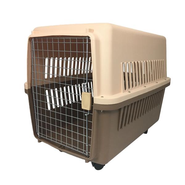 ペットキャリー ケース LLサイズ 中型犬·大型犬用 ハードタイプ 外出用 犬小屋 81×61×56cm キャスター付き