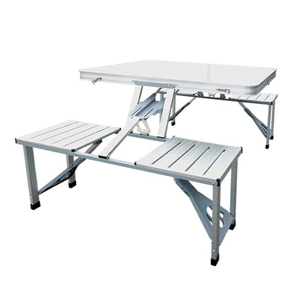 ピクニックテーブル アルミ製 レジャーテーブル アルミテーブル アウトドアテーブル 折り畳みテーブル