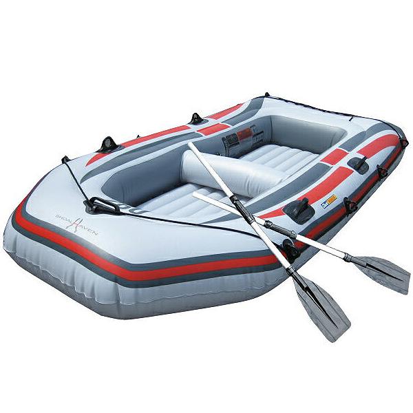 ゴムボート 4人乗り オール2本セット ミニボート 2人乗り フィッシングボート 3気室 構造 海水浴 釣り