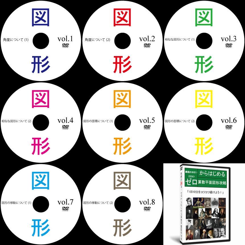 中学受験算数平面図形DVD全8枚