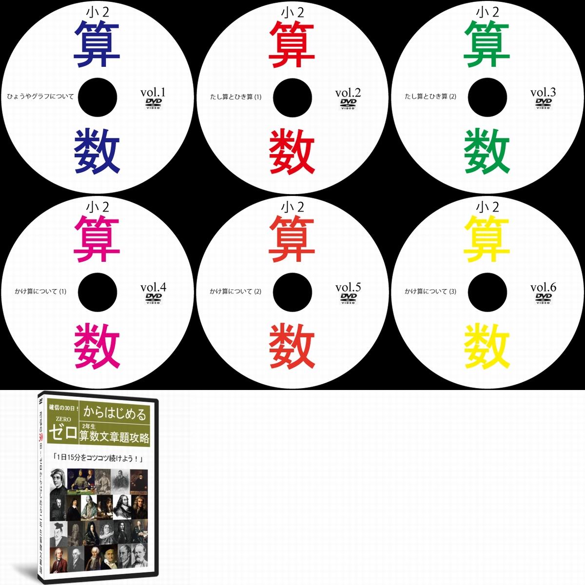 中学受験小学2年生算数文章題DVD全6枚