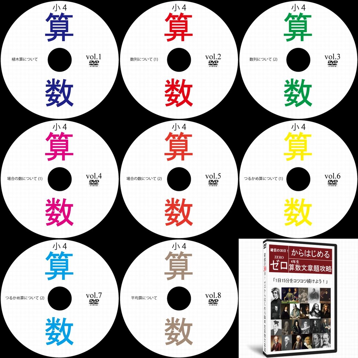 中学受験小学4年生算数文章題DVD全8枚