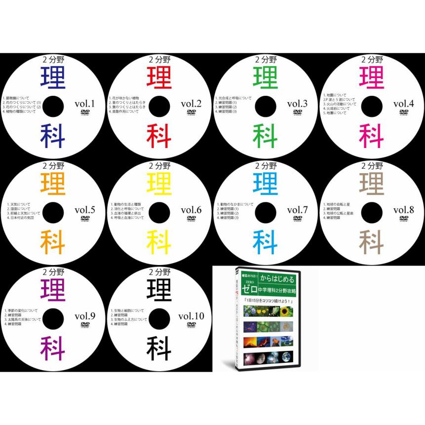 中学理科2分野DVD全10枚