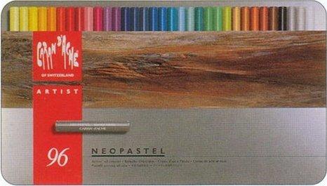ネオパステル96色(油性) 紙函入りスイス製のプロタイプのパステル