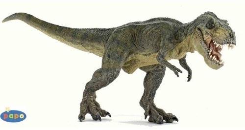 papo(パポ社)ティラノサウルス(Tyrannosaurus rex)恐竜フィギュアT.レックス緑(走)