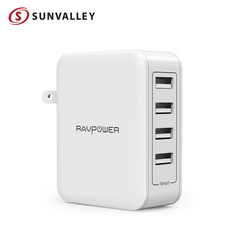 70%OFFアウトレット 4台同時に急速充電 フルスピード充電可能 RAVPower 人気ブレゼント USB 充電器 4ポート 40W 等対応 アダプター sl01 iPhone Android 急速充電器