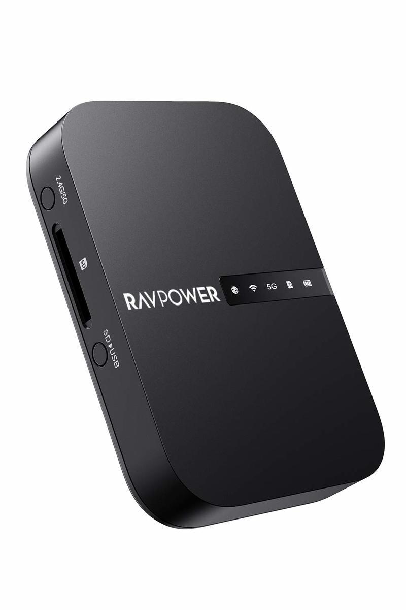 簡単操作でデータ共有が手軽に RAVPower Wi-Fi 売れ筋 SDカードリーダー ワイヤレス共有 高速データ転送 信憑 ワンキーバックアップ 有線LANをWiFi化 iOS FileHub ポケットWiFiルーター 最大2TBまで対応 Android対応 ワイヤレス #12068;型6700mAhバッテリー内蔵
