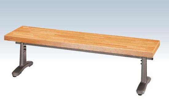 【いまだけポイント10倍】コンドル ベンチ 屋内用 木製 背なし 150cm ベンチ YB-57L-WN