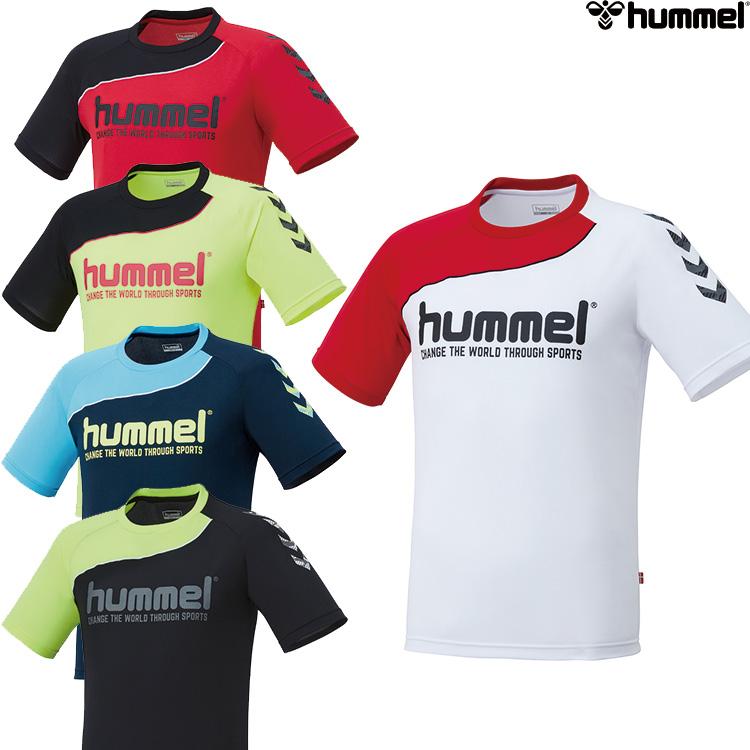 ストア 5色展開なので 販売 チームカラーや好みに合わせて 色が選べます 背面のHANDBALLプリントと左右の袖の色が違うアシンメトリーデザインがポイントのプラクティスTシャツ hummel HAP1142H ヒュンメル ハンドボールTシャツ 半袖シャツ