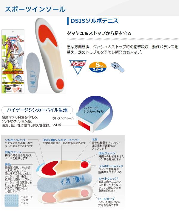 盛博 (盛博) 矫形器 DSIS 盛博网球鞋垫 61825 61828 从短跑 & 停止保护脚