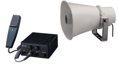 【いまだけポイント10倍】拡声器 車用 マイク放送アンプ スピーカー TOA CA-200SET