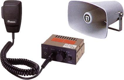 【いまだけポイント10倍】拡声器 車載用 マイク放送アンプ 選挙 スピーカー 12V車用 ノボル電機 D11A5