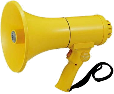 【いまだけポイント10倍】拡声器 中型 TOA ER-1115W(ホイッスル音付き)・ER-1115S (サイレン音付き)