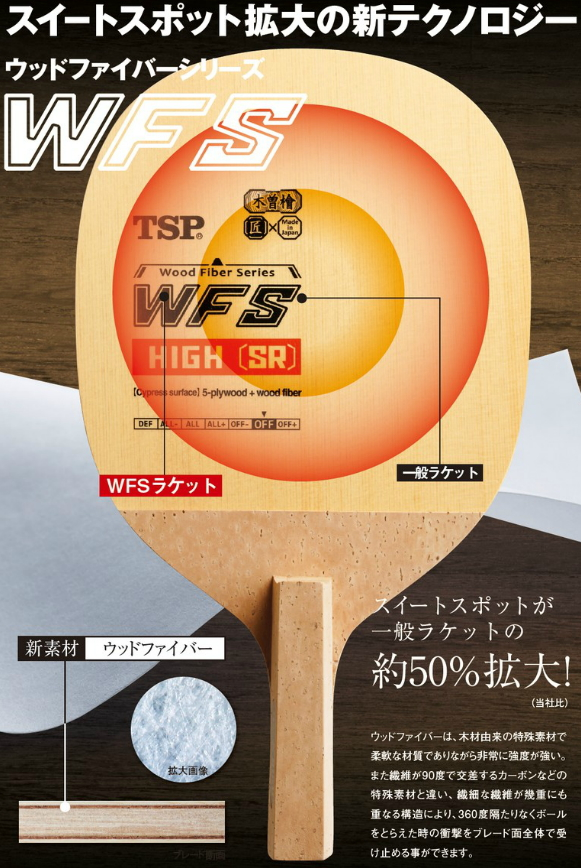 WFS 转子 SR (圆型) TSP 乒乓球拍日本笔攻击魂斗罗 #026622 乒乓球设备