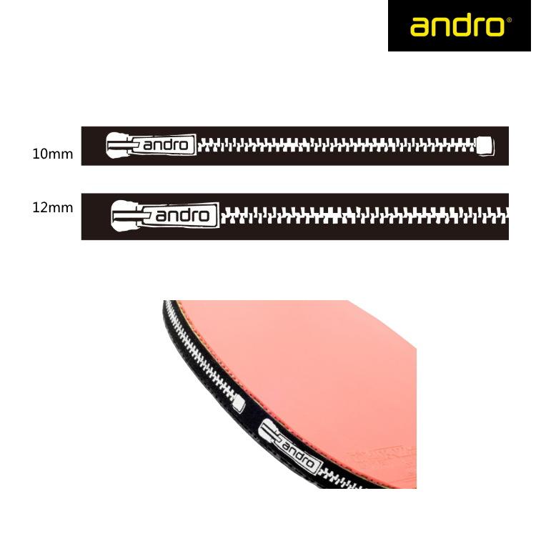 メール便利用可 メーカー公式 アンドロ サイドテープ 起毛タイプ ジップ柄 12mm 卓球ラケット ZIP 10mm andro 店舗