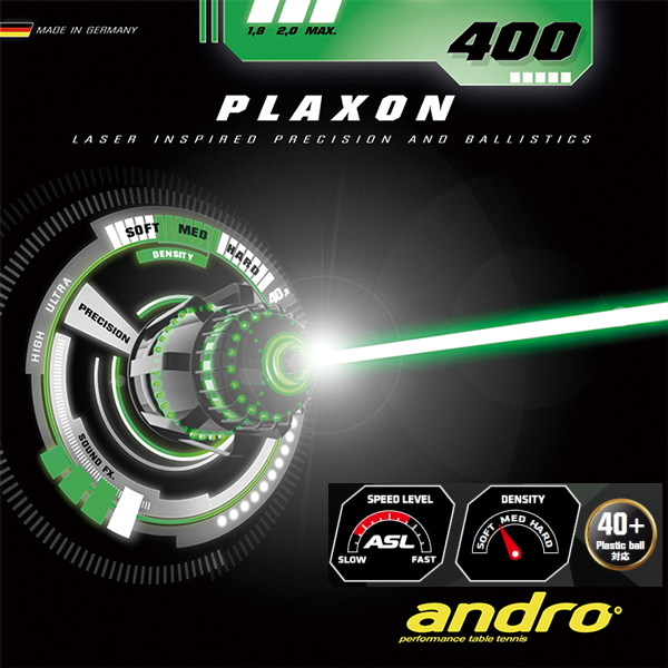 Andro (레안드로) プラクソン/400 PLAXON400 112251 탁구 러 버 스피드 장력 계 뒷면 소프트 러 버 (テンゾーバイオス SS) 탁구 용품