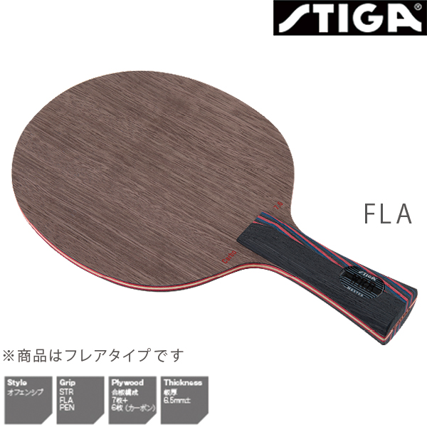 STIGA(スティガ) カーボ 7.6 WRB WRB CARBO WRB 2041-4 FLA 2041-4 卓球ラケット フレア オフェンシブ フレア, ポケットコンビニ:41ac343c --- officewill.xsrv.jp