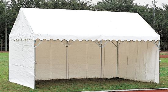 【今だけポイント10倍】三方幕付集会用テント イベント用テント A型(1間×1.5間)