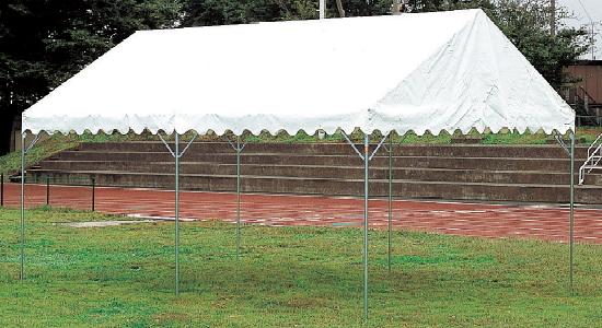 【今だけポイント10倍】集会用テント パイプテント E型 (2間×4間 8坪)