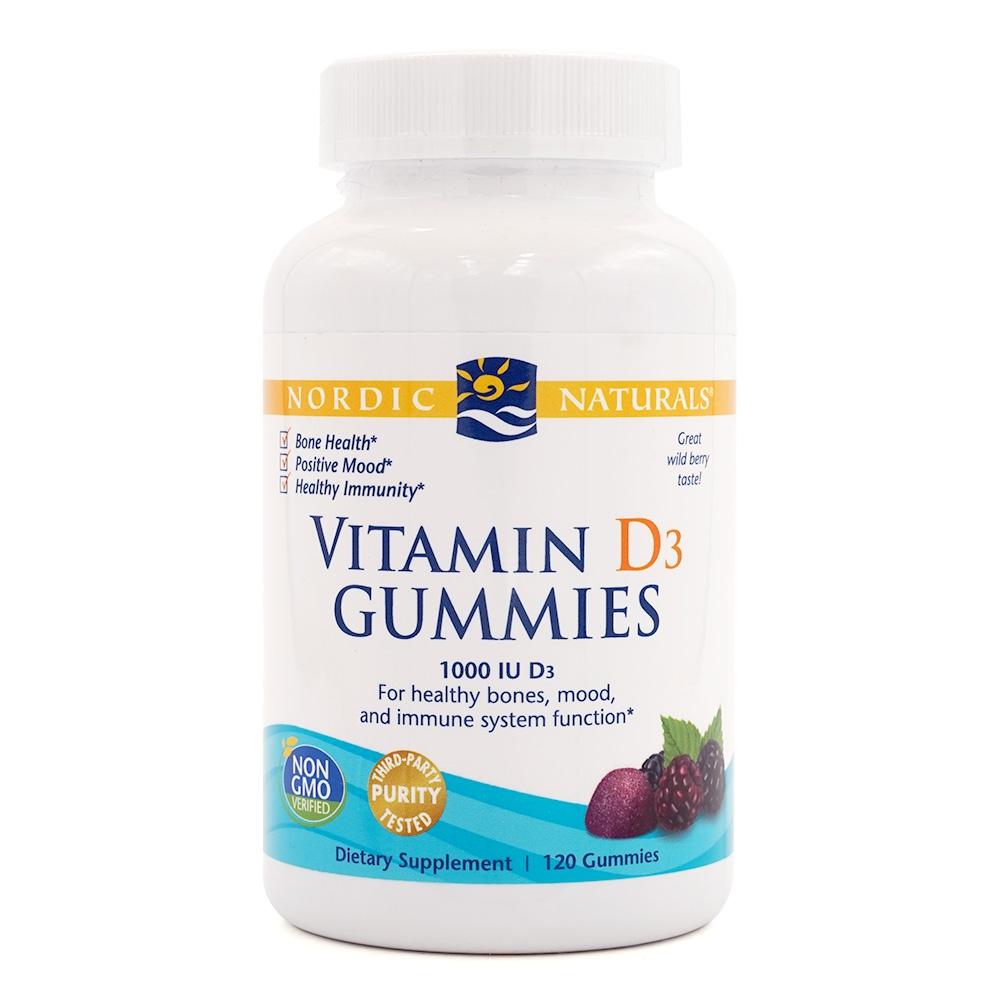 送料無料 ビタミンD3 グミ 新色追加して再販 1000IU配合 ワイルドベリー味 120粒 ノルディックナチュラルズ Nordic Naturals 120 Berry 訳あり品送料無料 D3 Gummies Vitamin Wild