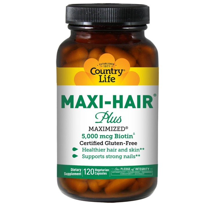 ★送料無料★カントリーライフ マキシヘアープラス ビオチン 5,000 mcg PABAフリー 120 ベジカプセル【Country Life】Maxi Hair Plus Biotin 5,000 mcg PABA-free 120 Vegicaps
