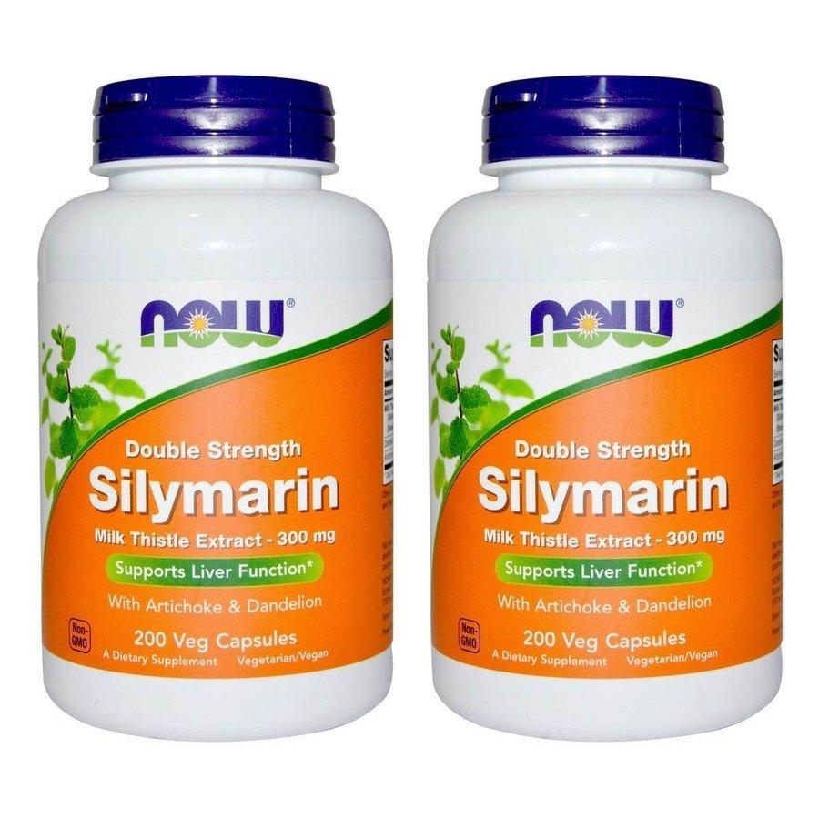 送料無料 ナウフーズ シリマリン ミルクシスル 300 [ギフト/プレゼント/ご褒美] mg ギフト プレゼント ご褒美 200 粒 Silymarin 2set veggiecaps Now foods 2本セット