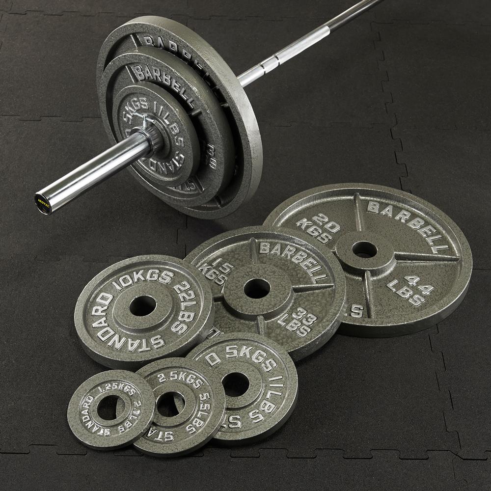 IROTEC(アイロテック)オリンピックアイアンバーベル144KGセット/バーベルセット ベンチプレス トレーニングマシン トレーニング器具 筋トレ スクワット パワーラック ウエイトトレーニング