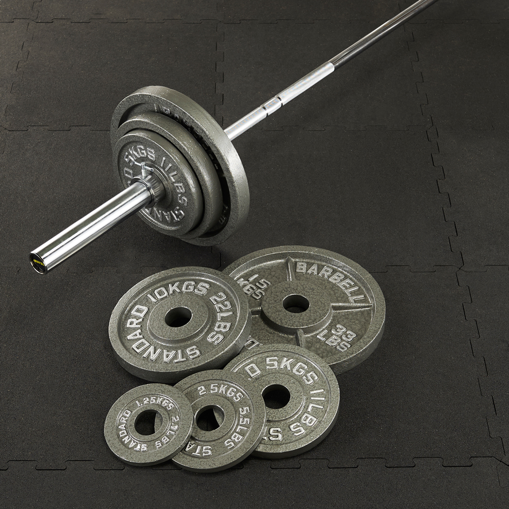 IROTEC(アイロテック)オリンピックアイアンバーベル104KGセット/バーベルセット ベンチプレス トレーニング器具 筋トレ スクワット 筋力トレーニング パワーラック 筋トレ器具 ウエイトトレーニング