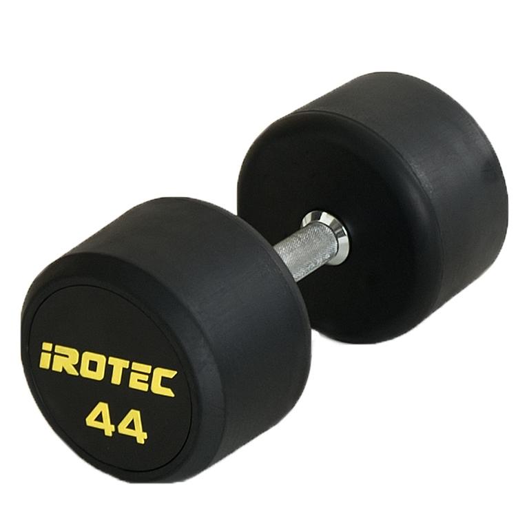 IROTEC(アイロテック)ジムダンベル44KG(オールラバータイプ)/ダンベル ベンチプレス トレーニングベンチ 筋トレ トレーニング器具 トレーニングマシン バーベル 筋力トレーニング 下半身トレーニング スクワット インクラインベンチ 筋トレグッズ 筋トレ器具