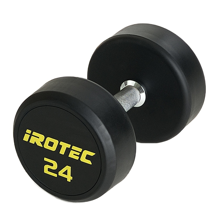 IROTEC(アイロテック)ジムダンベル24KG(オールラバータイプ)/ダンベル ベンチプレス トレーニングベンチ 筋トレ マルチジム トレーニング器具 トレーニングマシン バーベル 筋トレ器具 筋トレグッズ