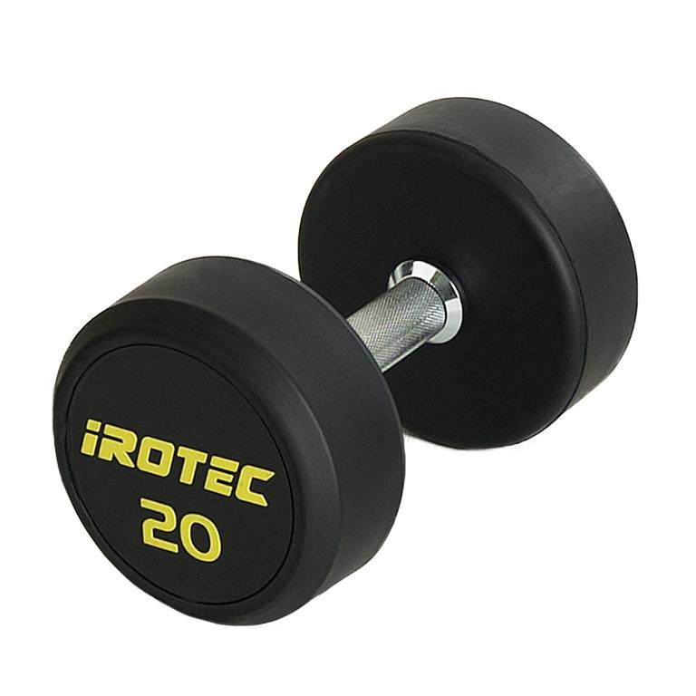 IROTEC(アイロテック)ジムダンベル20KG(オールラバータイプ)/ダンベル ベンチプレス トレーニングベンチ 筋トレ トレーニング器具 トレーニングマシン ホームジム バーベル プレスベンチ ダイエット器具