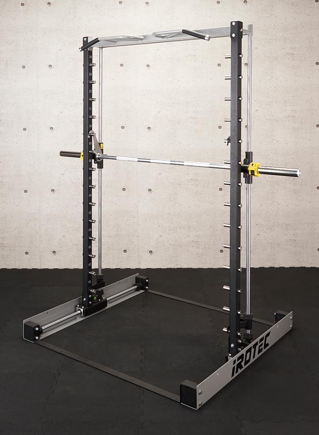 【準業務用】IROTEC(アイロテック)スリーディメンションスミスマシンWOT【径50mm専用】【沖縄・離島は配達不可】ホームジム 懸垂 チンニング パワーラック スミスマシン 筋トレ ベンチプレス マルチジム スクワット デットリフト バーベル トレーニングマシン