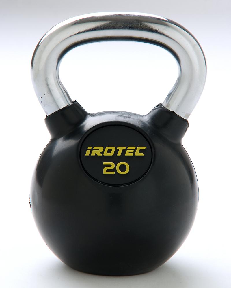 IROTEC(アイロテック)ケトルベル20kg(ラバーコーティングタイプ)/ダンベル ベンチプレス トレーニングベンチ 筋トレ トレーニング器具 トレーニングマシン バーベル 健康器具 ダイエット器具 ウエイトトレーニング 筋力トレーニング