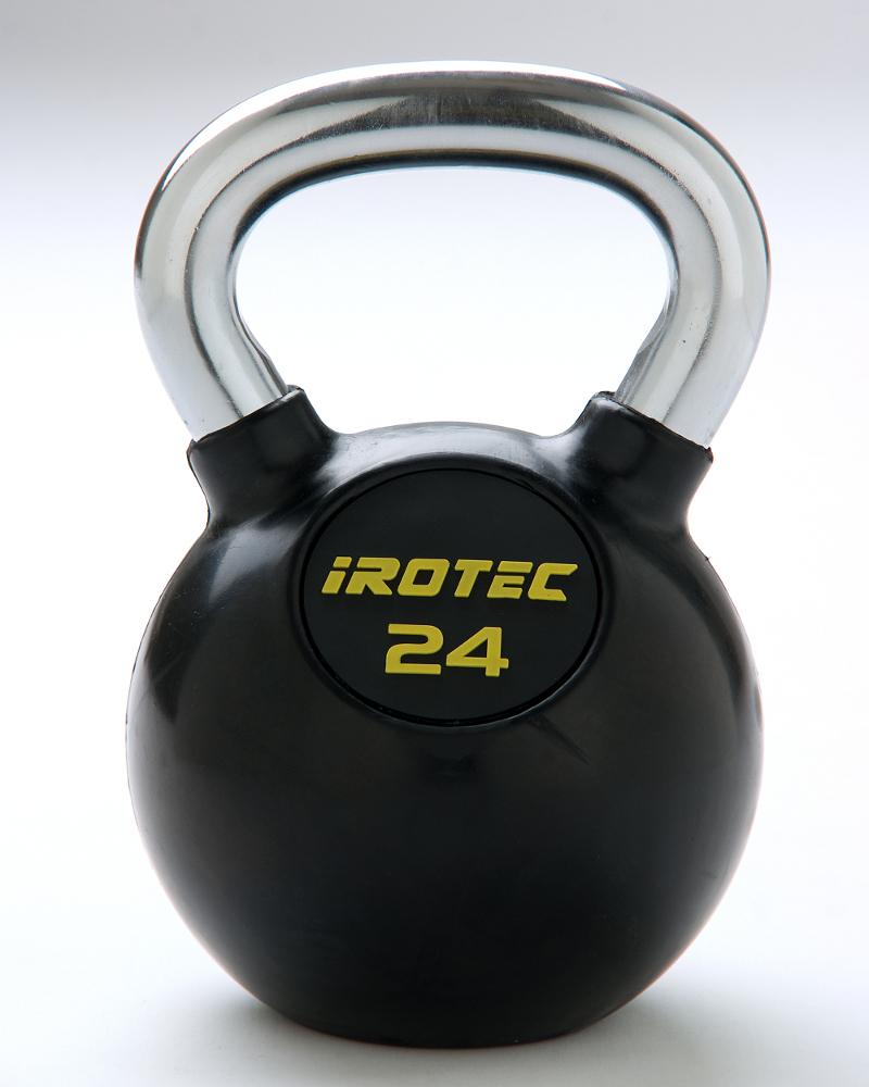 IROTEC(アイロテック)ケトルベル24kg(ラバーコーティングタイプ)/ダンベル ベンチプレス トレーニングベンチ 筋トレ トレーニング器具 トレーニングマシン バーベル 健康器具 ダイエット器具 体幹 トレーニング 筋トレ器具 筋トレグッズ 筋トレ 器具