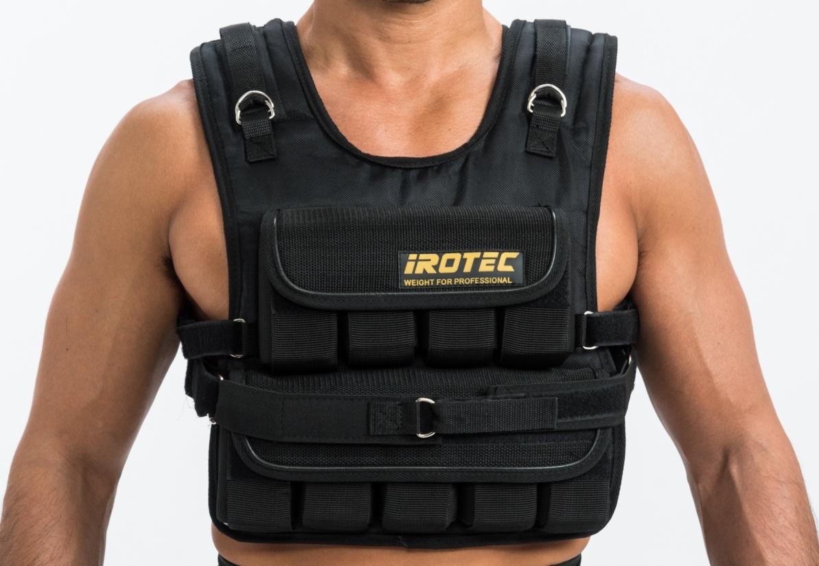 IROTEC(アイロテック)NEWブロックウエイトベスト57ポンド(約26KG)/高重量タイプの最強パワーベスト/筋トレ 懸垂 トレーニング器具 筋トレ器具 器具 グッズ チンニング スクワット トレーニング