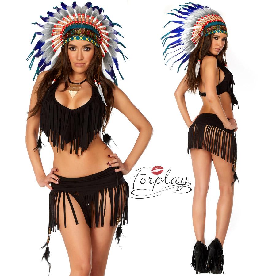 ForPlay フォープレイ FP 555212 インディアン 3点セット 正規品 ネイティブ アメリカン 民族 コスチューム 衣装 衣裳 仮装 フリンジ ドレス セクシー かわいい エロい ファッション おしゃれ コーデ ブラック 黒 ハロウィン セレブ 海外 costume TDL USJ